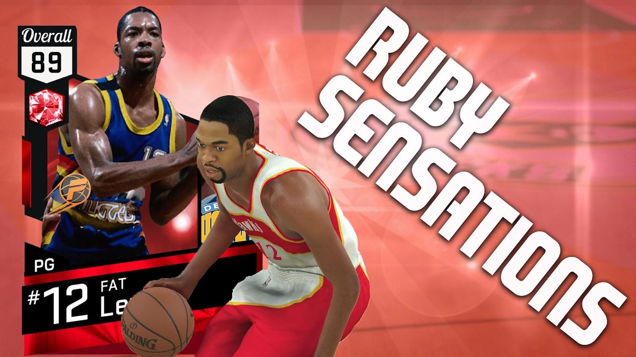 NBA 2K17 MyTeam Sleeper Ruby Sensations Challenge Fat Lever
