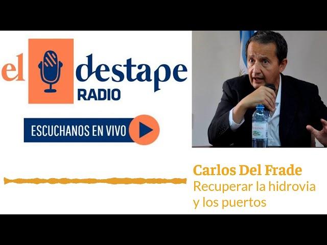 Carlos Del Frade con Dady Brieva - Recuperar la hidrovia y los puertos
