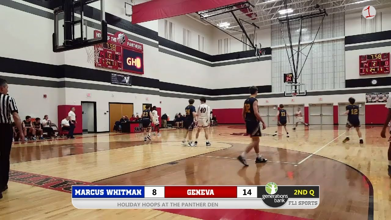 WATCH LIVE: Marcus Whitman visits Geneva for a Holiday Hoops Showdown (FL1 Sports)