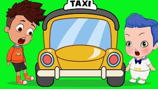 Funny Baby & Taxi | Cartoon Animation Learning Video for Toddlers, Children Nursery Rhymes for Kids