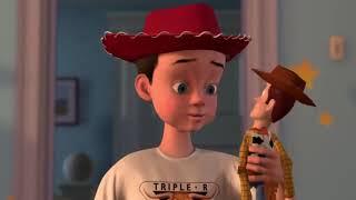 Woody's hand broken scene full in (toy story 2)
