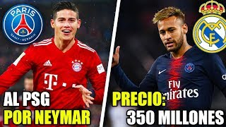 JAMES AL PSG Y NEYMAR AL REAL MADRID? | FICHAJES REAL MADRID VERANO 2020