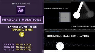 إنشاء البندول ، كذاب الكرة ، يقظ المحاكاة باستخدام التعبيرات AE