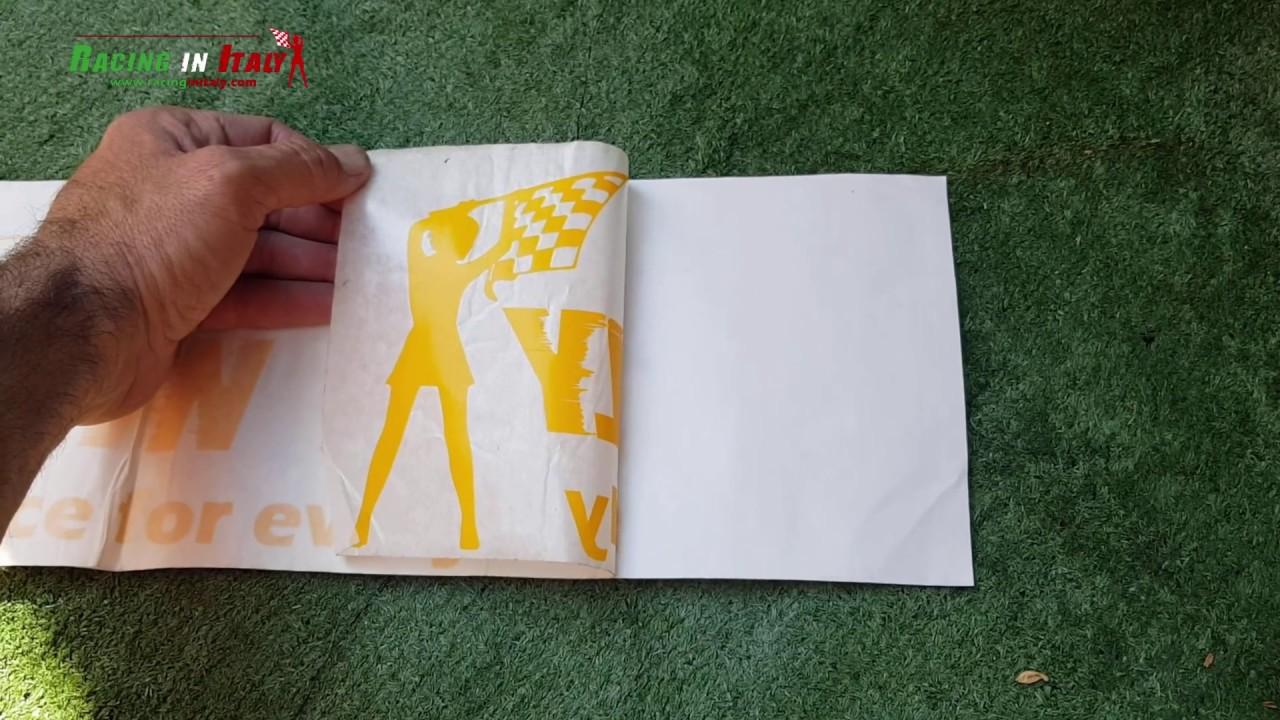 Come applicare un adesivo prespaziato