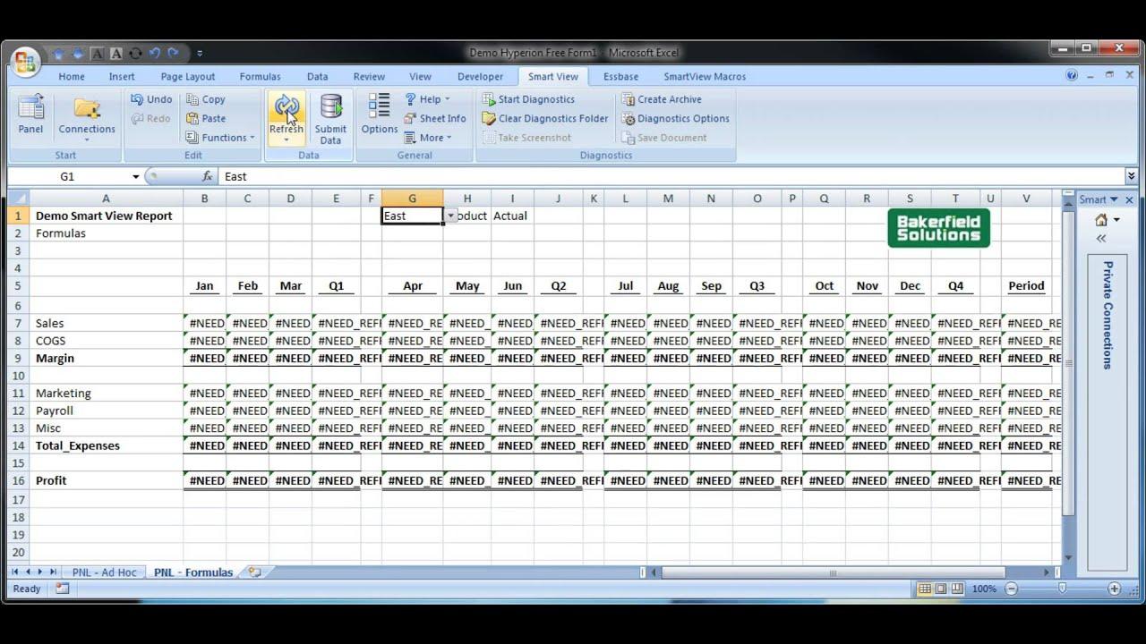 Enhancing Smart View Performance Via Excel Vba