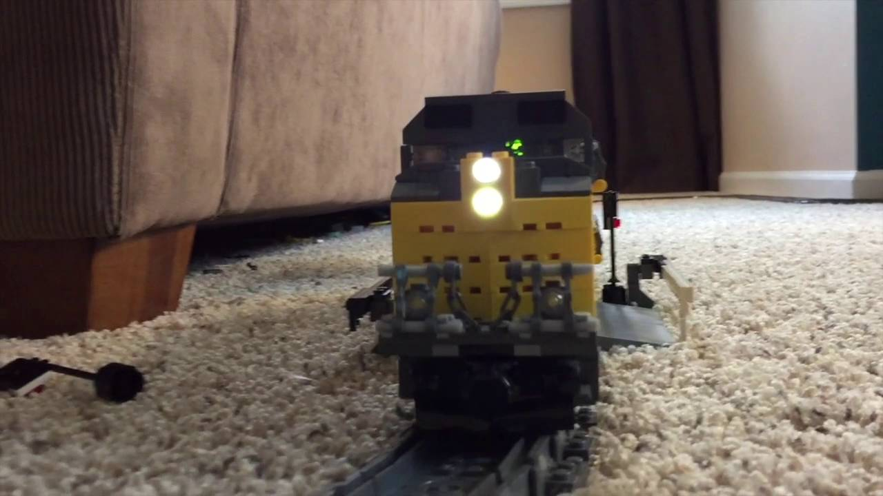custom lego union pacific sd70ace locomotive youtube