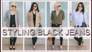 How to Style Black Jeans | Outfit Ideas  & Lookbook