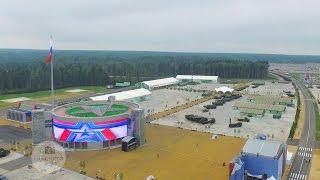 """видео: Закрытие Парка Патриот """"Армия 2015"""" в Кубинке Аэросъемка"""