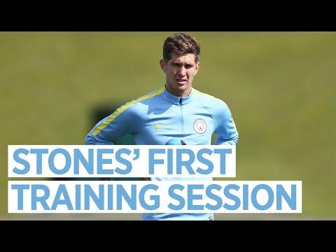 JOHN STONES' FIRST TRAINING SESSION | Training