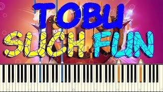 TOBU - SUCH FUN PIANO COVER on Synthesia + Free Midi file download