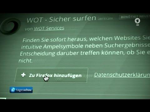 """ARD Tagesschau - WOT """"Web of Trust"""" späht Nutzer aus - 1.11.2011"""