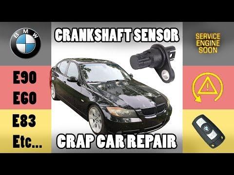 BMW Replace Crankshaft Position Sensor - BEST WAY - E90/E91