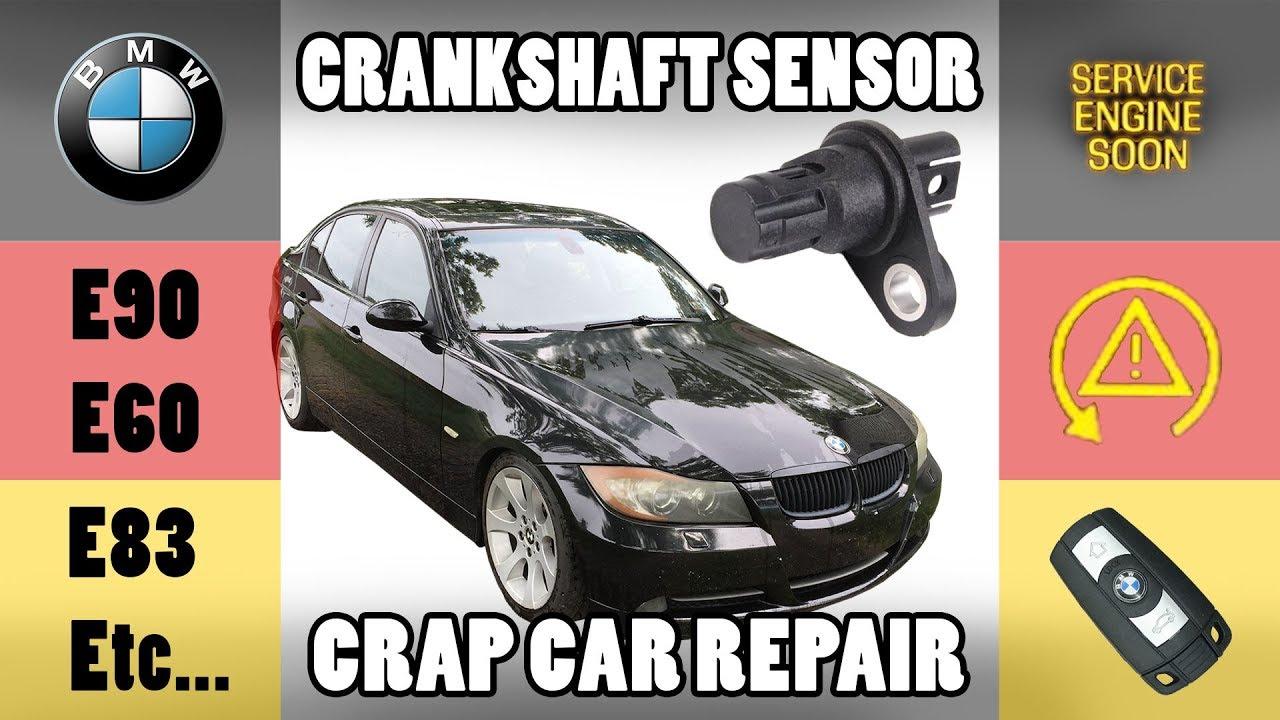 BMW Replace Crankshaft Position Sensor - BEST WAY - E90/E91/E92/E93/E60/E83