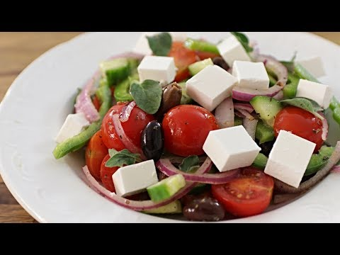 Greek Salad Recipe | How To Make Greek Salad