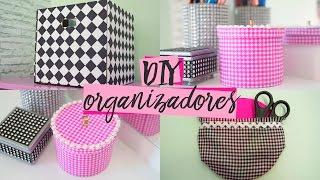 DIY ORGANIZADORES | Ideias INCRÍVEIS usando PAPELÃO e CD velho