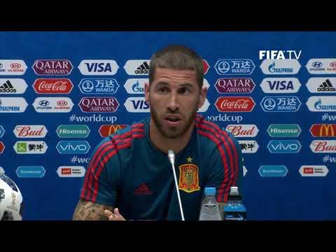 Rueda de prensa Sergio Ramos y Fernando Hierro 14-VI-2018