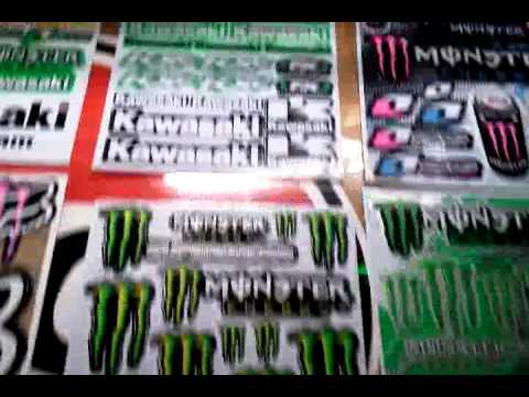 ROCK STAR MONSTER ENERGY DRINK STICKER DECAL SHEET FOR R/C CARS