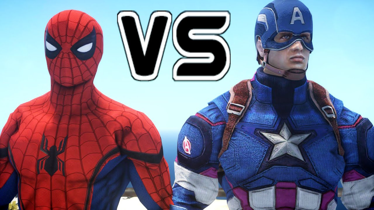 spiderman vs captain america