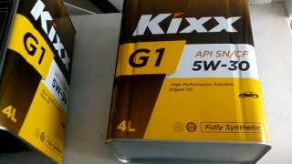 Масло моторное KIXX G1 5w30 Vs KIXX G1 5w30 Dexos 1