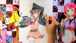 Anime Coloring Tutorial Using Color Pencils (Konosuba)