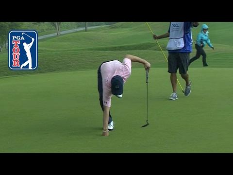Jordan Spieth drops in a huge eagle putt at Dell Match Play