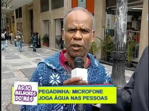 SORRIA: MICROFONE COM ÁGUA IRRITA ENTREVISTADOS