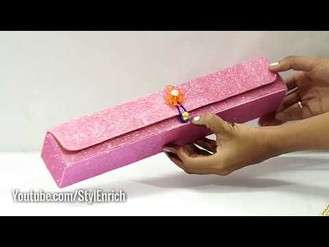 Easy Best Out Of Waste : How to make DIY Organiser from Waste Silver Foil Box   StylEnrichDIY