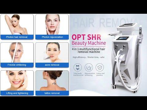 LO-03 Ipl Shr Hair Removal Nd Yag Laser Tattoo Removal RF Skin Tightening