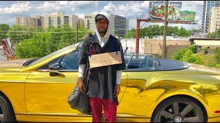 Download HOMELESS in GOLD BENTLEY Gold Digger Prank Social Experiment Mp3 and Videos