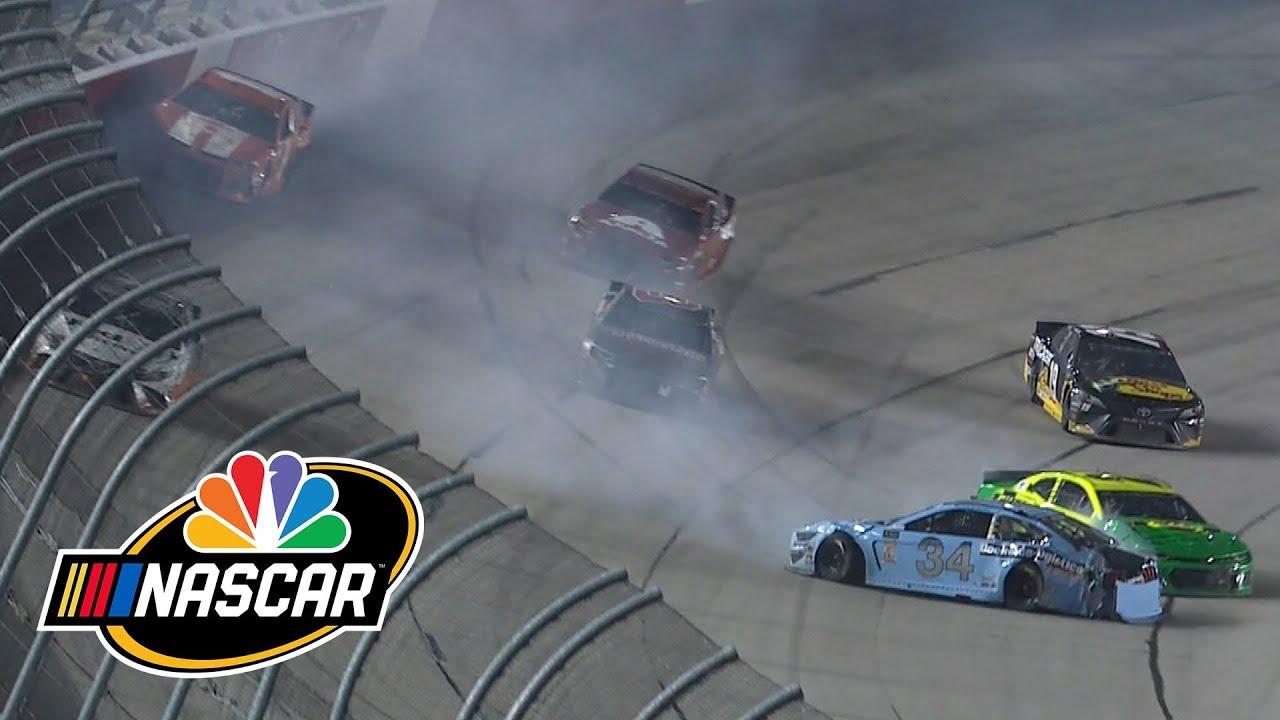 Denny Hamlin, Jimmie Johnson, Kurt Busch part of Darlington wreck | Motorsports on NBC