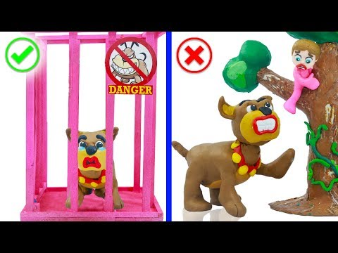 SUPERHERO BABY CATCHING WILD DOG 馃挅 Play Doh Cartoons For Kids