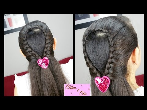 Braided Water Drop Easy Hairstyles for School