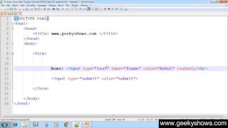 162. readonly attribute in HTML (Hindi)