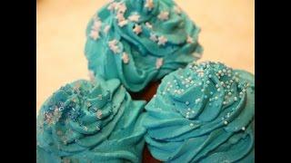 Vanille Cupcakes Mit Sahne-frischkäse-frosting Frozen Elsa Vanilla Cupcakes Eiskönigin Elsa Party