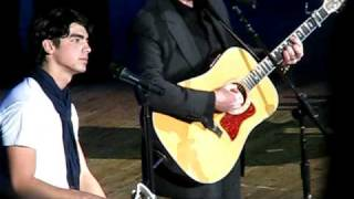 Jonas Brothers and Steven Curtis Chapman - Cinderella (Kevin gets emotional) (Nashville,TN) 1/4/09