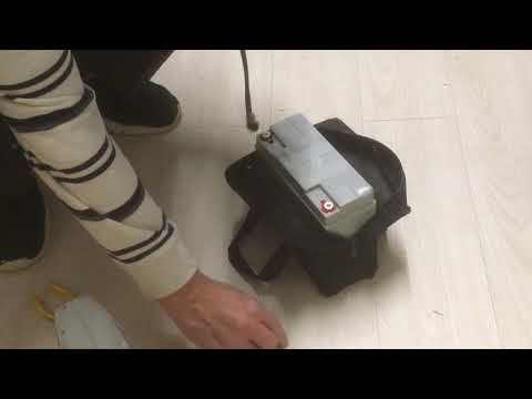 Fitting a golf trolley battery cable