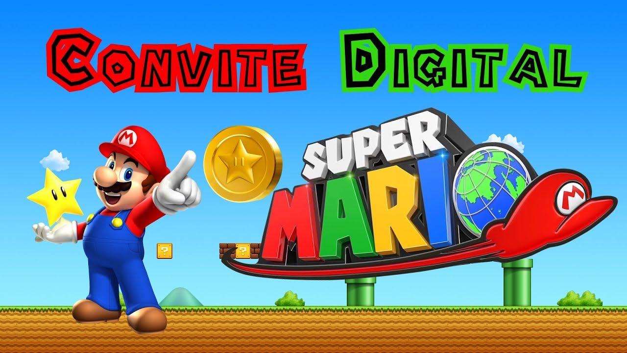 Modelo Convite Animado Super Mario Bros Youtube