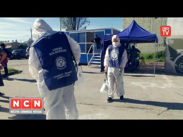 CINCO TV - En coordinación con diferentes organizaciones la CGT Z.N. sanitiza y colabora en S.I.