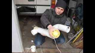 Рекуператор - своими руками(Как выглядит приточно-вытяжная установка с рекуператором тепла? Вторая серия с теплообменников из картона..., 2014-04-01T11:28:54.000Z)