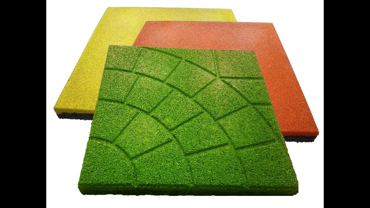 Cooking, recipe tiles made of rubber crumbs (some recipes). - YouTube