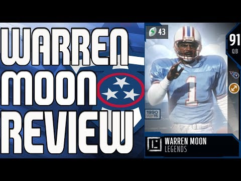 91 LEGEND WARREN MOON REVIEW | MADDEN 18 ULTIMATE TEAM PLAYER REVIEW