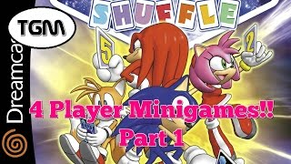 Sonic Shuffle - 4 Player Mini-games Part 1