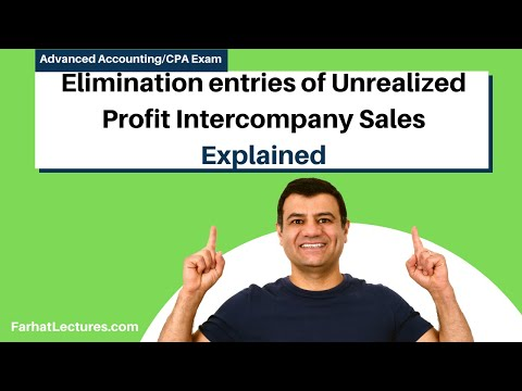 Elimination of Unrealized Profit on Intercompany Inventory sales advanced accounting CPA exam ch6p1