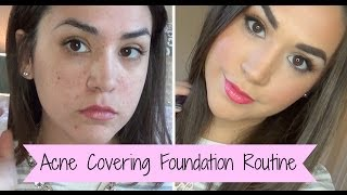 Covergirl 3 in 1 Full Coverage Foundation Routine | Alexandrea Garza