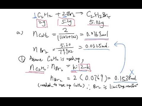 Stoichiometry, limiting reactant, in excess (2)