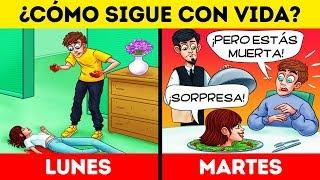 ¡10 ACERTIJOS DIFÍCILES DE MISTERIO Y ASESINATO SOLO PARA MENTES ANALÍTICAS!