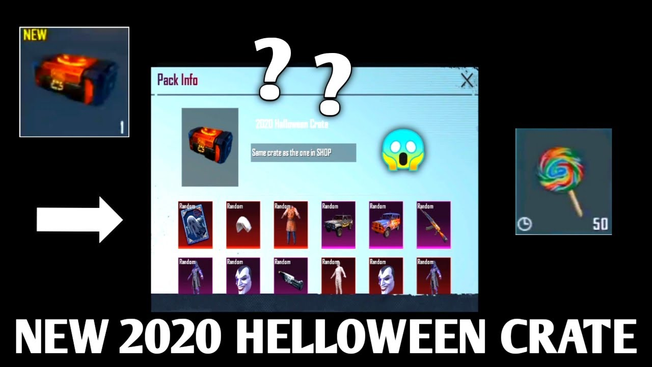NEW SPECIAL CRATE !!! 2020 HELLOWEEN CRATE | AND NEW CRATE WITH M416 JOKER | PUBG MOBILE KOREA