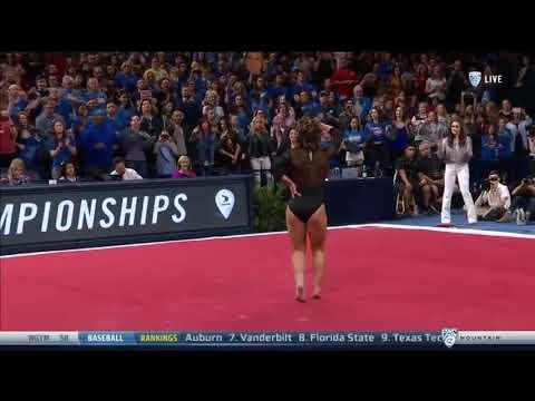Una gimnasta logra un puntaje perfecto de 10 con una épica rutina de suelo de Michael Jackson