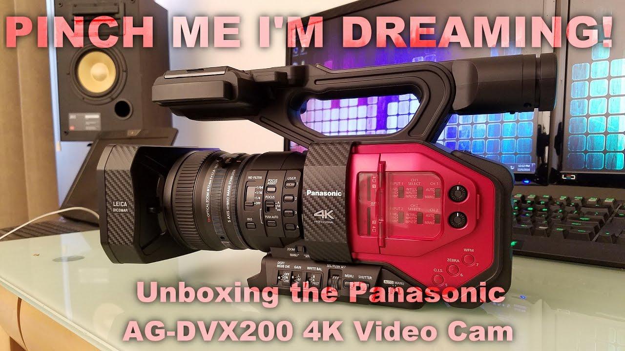 Huge unboxing! Panasonic AG-DVX200 4K Video Cam!