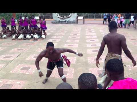 Zulu Dance Performance at uShaka Marine World in Durban, South Africa